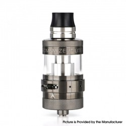 Authentic Steam Crave Aromamizer Lite V1.5 MTL RTA Rebuildable Tank Atomizer - Gunmetal, Stainless Steel + Glass, 23mm Diameter