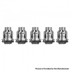 Authentic IJOY NIC-Q2 Dual Cotton Coil Head for NIC Tank - Silver, 1.2ohm (15~20W) (5 PCS)