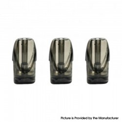 Authentic asMODus Pyke Pod System Replacement Empty Pod Cartridge w/ 1.2ohm Ceramic Coil - Black, 2ml (3 PCS)