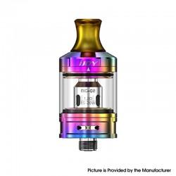 Authentic IJOY NIC Tank Clearomizer - Mirror Rainbow, Stainless Steel + Glass, 2.0ml, 0.8ohm / 1.2ohm, 21mm Diameter