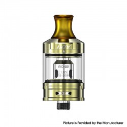 Authentic IJOY NIC Tank Clearomizer - Mirror Gold, Stainless Steel + Glass, 2.0ml, 0.8ohm / 1.2ohm, 21mm Diameter