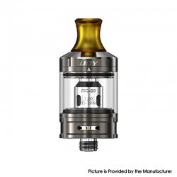 Authentic IJOY NIC Tank Clearomizer - Mirror Gun Metal, SS + Glass, 2.0ml, 0.8ohm / 1.2ohm, 21mm Diameter