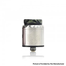 Authentic Advken Artha V2 RDA Rebuildable Dripping Atomizer - Stainless Steel, SS, 24mm Diameter