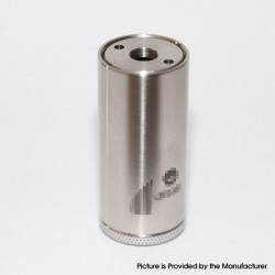Onyx Style Mechanical Mod - Silver, 316 Stainless Steel, 1 x 18350, 22mm Diameter