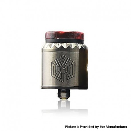 Authentic Advken Artha V2 RDA Rebuildable Dripping Atomizer - Gunmetal, SS, 24mm Diameter