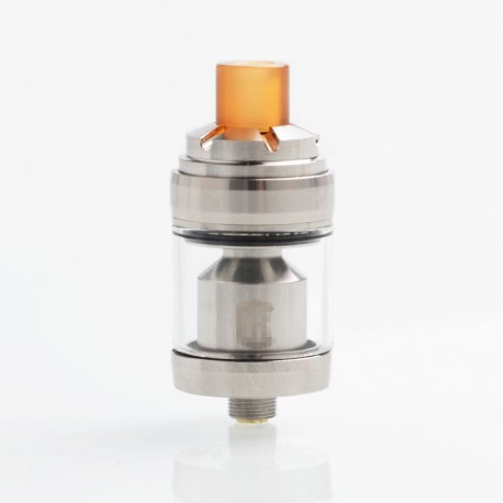 Reload Style MTL RTA Rebuildable Tank Atomizer - Silver, Stainless Steel + Glass, 2ml, 22mm Diameter