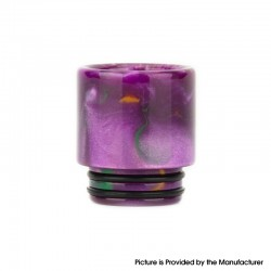 Authentic Reewape AS116 810 Drip Tip for SMOK TFV8 / TFV12 Tank / Kennedy / Battle / CSMNT Cosmonaut /Reload RDA - Purple, Resin