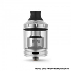 Gata Style MTL / DLH RTA Rebuildable Tank Atomizer - Silver, Stainless Steel + Glass, 4ml, 24mm Diameter