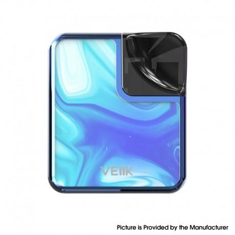 Authentic VEIIK Cracker MTL / DTL 500mAh Pod System Kit - Ocean Blue, 2ml, 1.2ohm