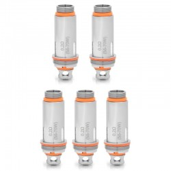 [Ships from HongKong 2] Authentic Aspire Cleito Replacement Coil Heads - Silver, 0.2 Ohm (55~70W) (5 PCS)