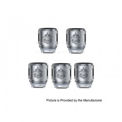 [Ships from HongKong 2] Authentic SMOKTech SMOK TFV8 Baby-T6 Coil Head - Silver, Stainless Steel, 0.2 Ohm (5 PCS)