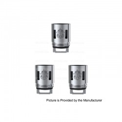 [Ships from HongKong 2] Authentic SMOK V8-T10 Coil Head for TFV8 CLOUD BEAST Tank - Silver, Stainless Steel, 0.12 Ohm (3 PCS)