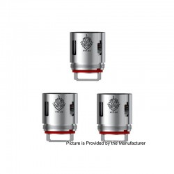 [Ships from HongKong 2] Authentic SMOKTech V12-X4 Coil Heads for SMOK TFV12 Cloud Beast King Tank - 0.15 ohm (60~220W) (3 PCS)