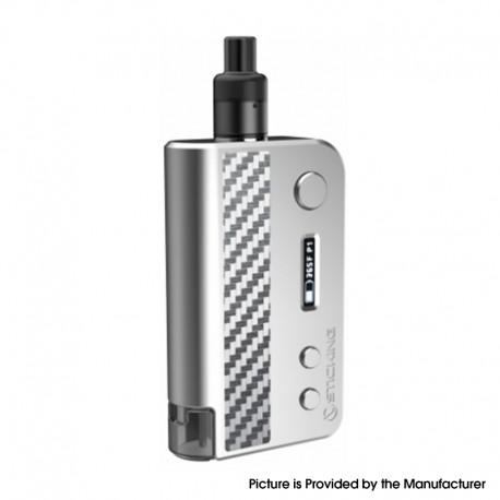 Authentic Vsticking VKsma 25W 1400mAh YiHi Chip Auto Mode TC Mod Kit w/ SMA ADA Dripping Atomizer - Zigzag Silver, 3ml