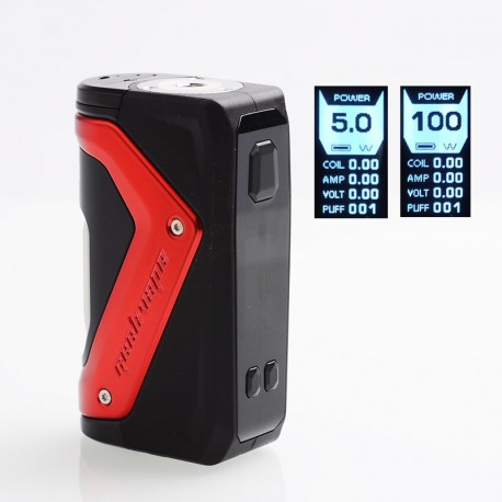 Authentic GeekVape AEGIS 100W TC VW Variable Wattage Squonk Box Mod - Red, 5~100W, 1 x 18650