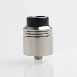 Authentic asMODus x Thesis Barrage RDA Rebuildable Dripping Atomizer w/ BF Pin - Silver, Stainless Steel, 24mm Diameter