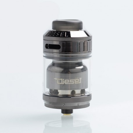 Authentic Timesvape Diesel RTA Rebuildable Tank Atomizer - Gun Metal, Stainless Steel, 2ml / 5ml, 25mm Diameter