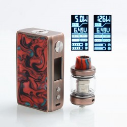 Authentic IJOY Shogun JR 126W 4500mAh TC VW Box Mod + Shogun Tank Kit - RC-Hellfire, 5~126W, 6ml, 0.2 Ohm