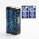 Authentic DOVPO Topside 90W TC VW Variable Wattage Squonk Box Mod - Black + Blue, 10ml, 1 x 18650 / 21700
