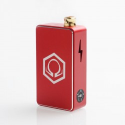 Authentic Ohm Vape AIO 42W Box Mod Pod System Starter Kit - Red, 1 x 18650