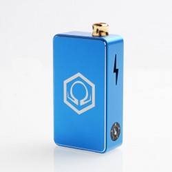 Authentic Ohm Vape AIO 42W Box Mod Pod System Starter Kit - Blue, 1 x 18650