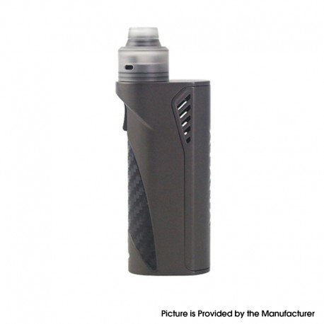 Authentic Advken Ayana S Box Mod w/ RDA Rebuildable Atomizer Kit - Gun Metal, 1 x 18650 / 20700 / 21700