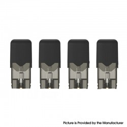 Authentic OVNS JC01 Pro Pod Kit Replacement Pod Cartridge w/ 1.5ohm Ceramic Coil - Black, 1.0ml (4 PCS)