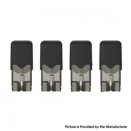 Authentic OVNS JC01 Pro Pod Kit Replacement Pod Cartridge w/ 1.5ohm Ceramic Coil - Black, 1.0ml (4 PCS)