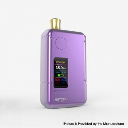 Authentic Wellon Beyond AIO 35W VW Box Mod Pod System Starter Kit - Purple, Zinc Alloy + PCTG, 2ml, 5~35W, 1 x 18650