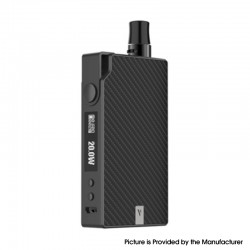 Authentic Vaporesso Degree Meshed 30W 950mAh VW Box Mod Pod System Starter Kit - Grey Carbon Fiber, 2ml, 5~30W