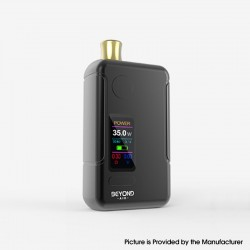 Authentic Wellon Beyond AIO 35W VW Box Mod Pod System Starter Kit - Black, Zinc Alloy + PCTG, 2ml, 5~35W, 1 x 18650