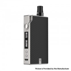 Authentic Vaporesso Degree Meshed 30W 950mAh VW Box Mod Pod System Starter Kit - Silver Carbon Fiber, 2ml, 5~30W
