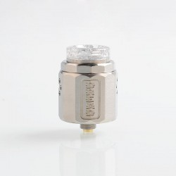 Authentic Damn Vape Dread RDA Rebuildable Dripping Atomizer w/ BF Pin - Silver, Stainless Steel, 24mm Diameter