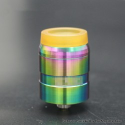 MDLR Style RDA Rebuildable Dripping Atomizer w/ BF Pin - Rainbow, Stainless Steel, 24mm Diameter