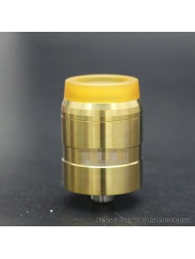MDLR Style RDA Rebuildable Dripping Atomizer w/ BF Pin - Gold, Stainless Steel, 24mm Diameter