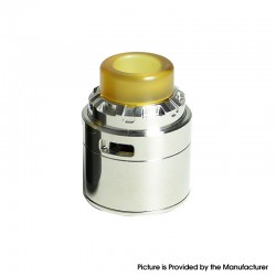 SXK Reload X Style RDA Rebuildable Dripping Atomizer w/ BF Pin - Silver, Stainless Steel, 24mm