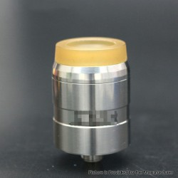 MDLR Style RDA Rebuildable Dripping Atomizer w/ BF Pin - Silver, Stainless Steel, 24mm Diameter