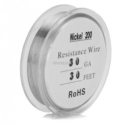 30 AWG Ni200 Non Resistance Wire for RBA / RDA Rebuildable Atomizers - Silver, 0.25mm x 10m, 0.711 ohm/cm