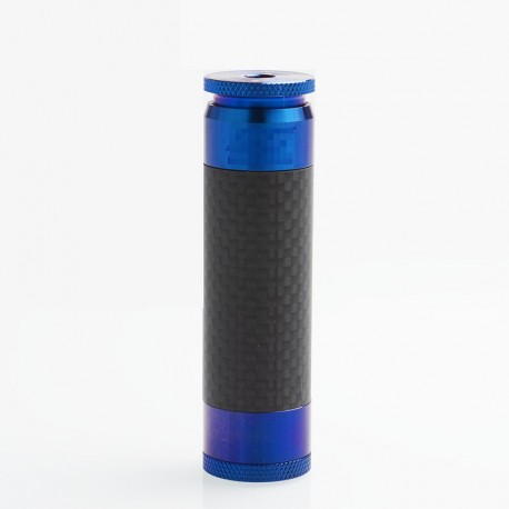 AV Able SS Edition Style Mechanical Mod - Blue, Stainless Steel + Carbon Fiber, 1 x 18650