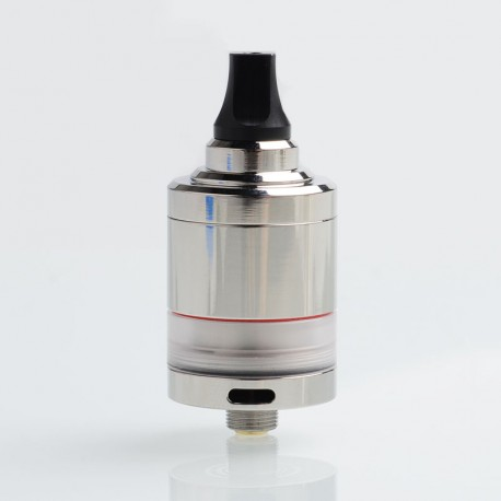 SXK NOI Style MTL RTA Rebuildable Tank Atomizer - Silver, 316 Stainless Steel + PC, 4ml, 22mm Diameter