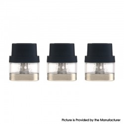 Authentic IJOY Neptune Pod Kit Replacement Pod Cartridge w/ 1.0ohm Coil - Transparent + Black, 1.8ml (3 PCS)