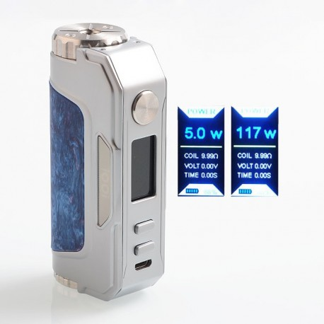 Authentic iOOi I007 117W TC VW Variable Wattage Box Mod - Silver, SS + Resin, 5~117W, 1 x 18650 / 20700 / 21700