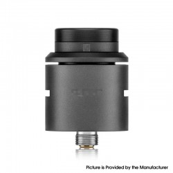 Vapeasy C2MNT V2 Style RDA Rebuildable Dripping Atomizer w/ BF Pin - Black, 316 Stainless Steel, 24mm Diameter