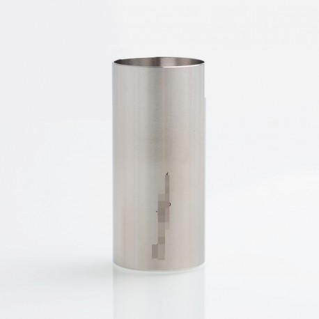 SXK Smuggler Style Mechanical Mod 18350 Battery Adapter Tube - Silver, 316 Stainless Steel