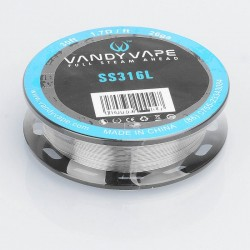 [Ships from HongKong] Authentic Vandy Vape SS316L Heating Wire for RDA / RTA / RDTA Atomizer - 26GA, 1.7 ohm / Ft, 10m (30 Feet)