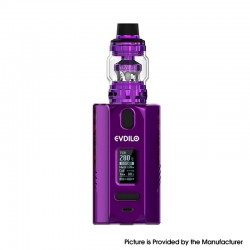 [Ships from HongKong] Authentic Uwell Evdilo 200W TC VW Box Mod w/ Valyrian II Tank Kit - Purple, 5~200W, 2 x 18650/20700/21700