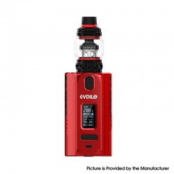 [Ships from HongKong] Authentic Uwell Evdilo 200W TC VW Box Mod w/ Valyrian II Tank Kit - Red, 5~200W, 2 x 18650/20700/21700