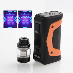[Ships from HongKong] Authentic GeekVape Aegis X 200W TC VW Box w/ Cerberus Tank Kit - Signature Orange, 5~200W, 5.5ml, 2x 18650