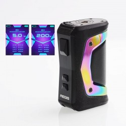 [Ships from HongKong] Authentic GeekVape Aegis X 200W TC VW Variable Wattage Box - Rainbow & Black, 5~200W, 2 x 18650