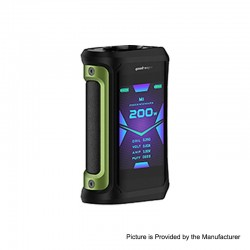 [Ships from HongKong] Authentic GeekVape Aegis X 200W TC VW Variable Wattage Box - Green & Black, 5~200W, 2 x 18650
